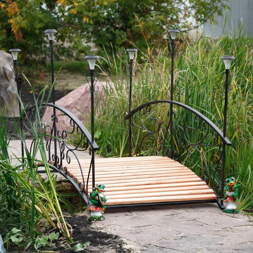 Садовый мостик с 6 фонарями