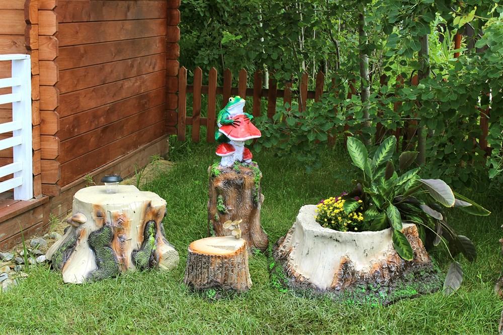 Садовые фигуры пни