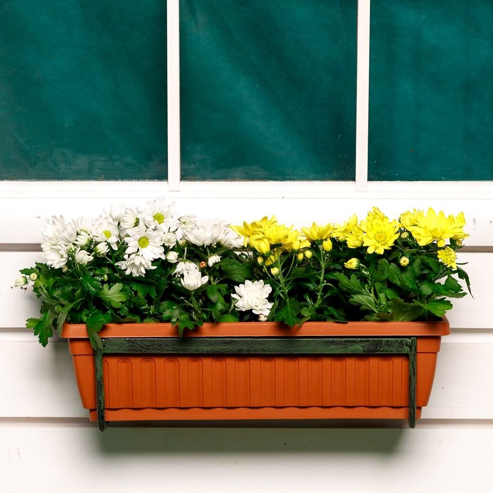 Кованая балконная цветочница