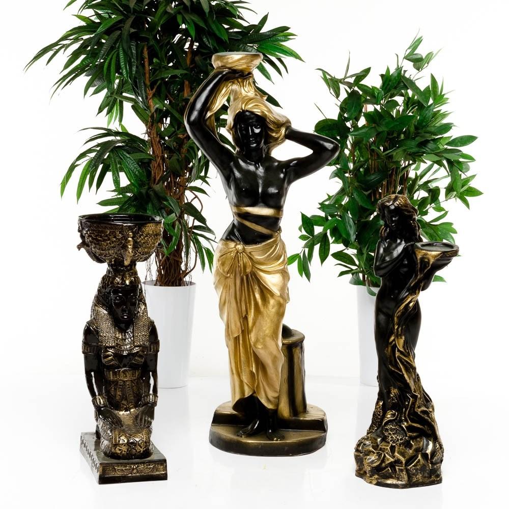 Античная фигура Девушка с чашей на камне - фото 40001