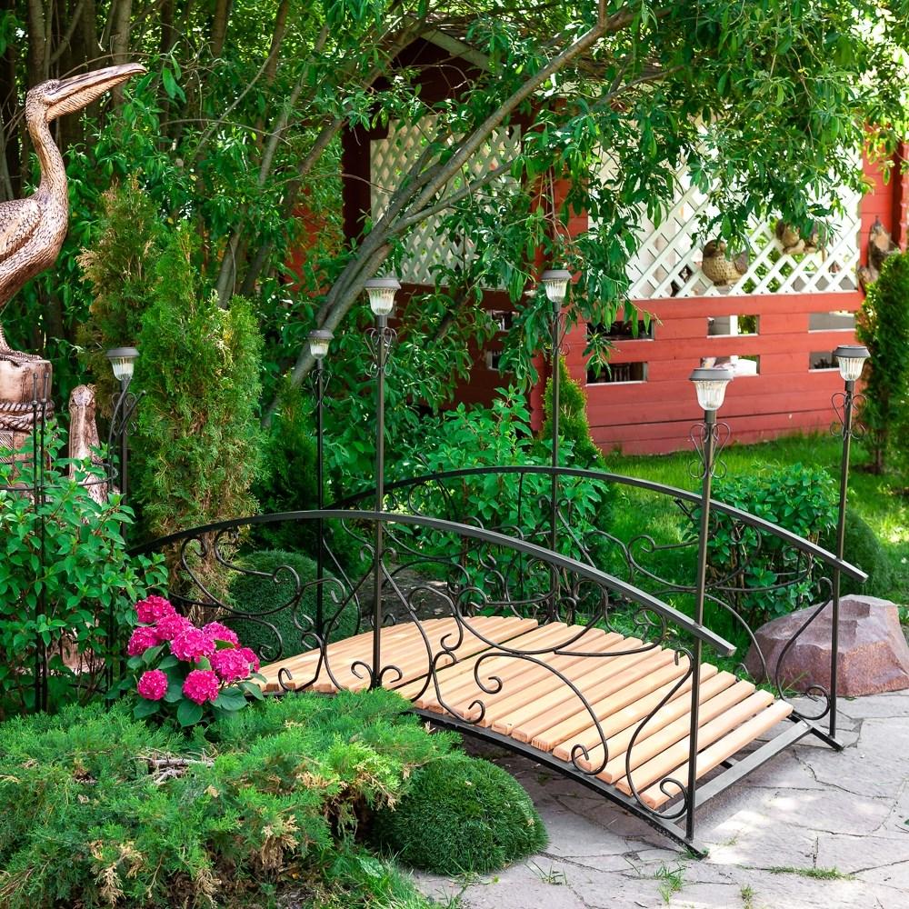 Садовый мостик с 6 фонарями - фото 56665