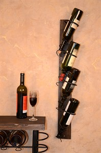 Подставка для бутылок из дерева