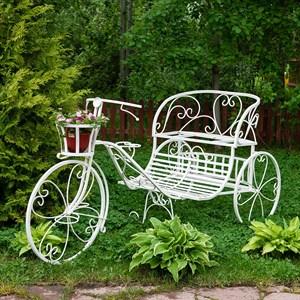 Садовый велосипед с кашпо