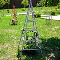 Кованая опора для растений