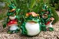Фигура для дачи Лягушка в шляпе - фото 58034